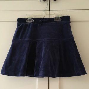 Girls Gap size 8 Navy Velour Skort